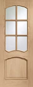 Oak Riviera with Clear Bevelled Glass an...