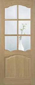 Oak Riviera 6L  with Clear Bevelled Glass - Pre Finished - LP