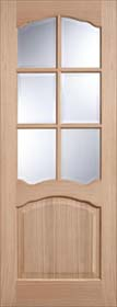 Oak Riviera with Bevelled Glass - Unfinished  - LP