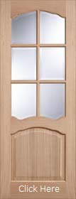 Oak Riviera with Clear Bevelled Glass - Unfinished  - LP