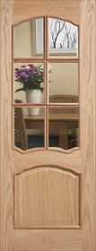 Oak Riviera with Bevelled Glass and Raised Mouldings - XL