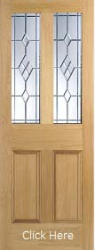 Oak Malton ABE Leaded Glass - Unfinished - LP