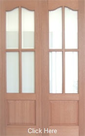 Hardwood Lindrick with Clear Bevelled Gl...