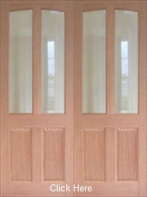 Hardwood Richmond - Clear Bevelled Glass...