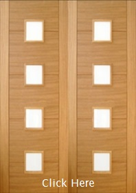 Oak Trend 4 Light Clear Glass Pair - Channel Grove - Prefinished - DF