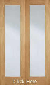 Oak Pattern 20 - Obscure Glass - Rebated - Unfinished - DF