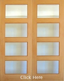 Oak Pattern 50 Mersey - Rebated -  Clear Bevelled Glass - Unfinished - DF