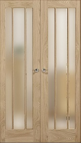 Oak Lincoln - Obscure Glass - Rebated Pa...