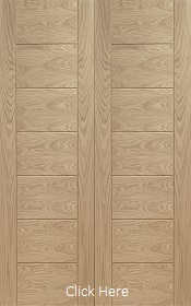 Oak Palermo Rebated Door Pair - Unfinished - XL