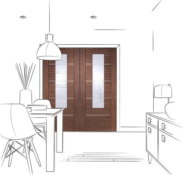 Walnut Portici door Sheffield