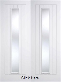 White Mexicano 2 Light - Smooth - Clear Glazed - Pre Finished - Rebated Pair - DF