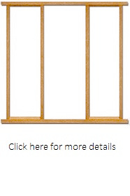 External Oak Effect Sidelight Frame Pack  - LPD