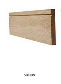 Oak Single Groove Skirting - Unfinished ...