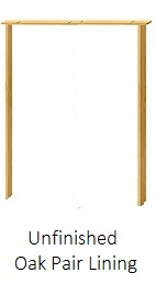Oak Door Pair Lining Kit - 108mm - Unfinished - XL