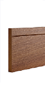 Walnut Shaker Style Skirting - Pre Finished -DE