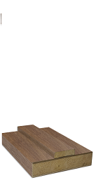 Walnut Door Lining Set (Includes Removable Stop) (DE)
