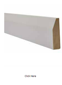 White Chamfered Architrave - Primed - LPD
