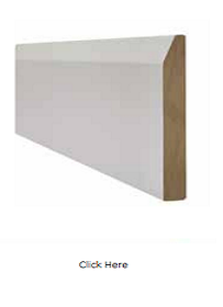 White Chamfered Skirting Pack - Primed -...