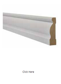 White Ogee Architrave - Primed - LPD
