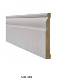 White Ogee Skirting Pack - Primed - LPD