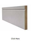 White Single Groove Skirting Pack - Primed - LPD