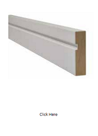White Single Groove Architrave - Primed - LPD