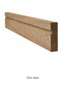 Oak Single Groove Architrave - Unfinishe...