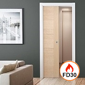 Pocket Sliding FD30 Firedoor Kit  - LPD
