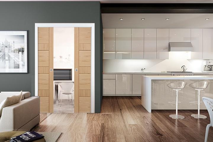 Oak Sliding Pocket Door Kit Internal Doors Doors Galore