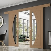 Oak Easi Glide Door System - XL