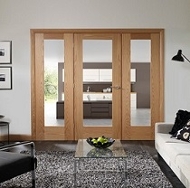 Easi-Frame with Oak Pattern 10 Door and Side Panels - Clear Glass - XL