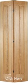 Oak Lincoln Bi-fold - Solid Core - Unfin...