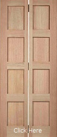 Oak Shaker Bi-fold - Solid Core - Unfini...