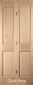 Oak Oregon 4 Panel Bifold - Flush Bead  - Unfinished - JW
