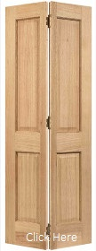 Oak Regency 4P Bifold Door - Unfinished - LPD