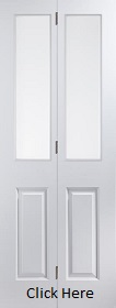 White Primed Atherton Bifold Door Clear ...
