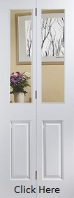 White Primed Atherton Bifold with Clear Glass -  JW