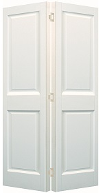 White Victorian 2 Panel Bifold Door - Pr...