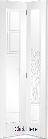 White Primed Pattern 10 Bi-fold - Clear Glass - X