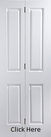 White Primed Atherton 4 Panel - Smooth - Bifold - JW