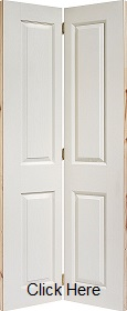 White Primed 4 Panel Textured Bifold -  ...