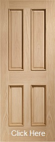 Oak 4 Panel with Raised Mouldings - DFG