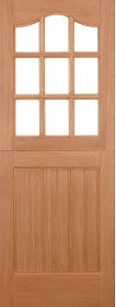Hardwood Stable 9L with Clear Double Gla...
