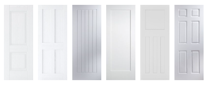 White Traditional Fire Doors FD30 44mm