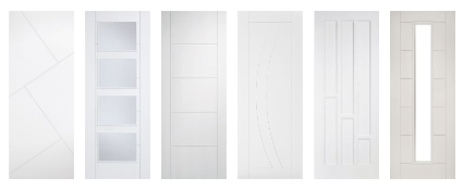 White Contemporary Fire Doors FD30 44mm
