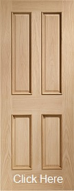 Oak Victorian 4 Panel with Raised Mouldings - Unfinished - XL