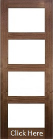 Walnut Coventry with Clear Glass - Prefinished - DE