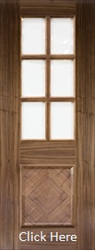 Walnut Kensington - Clear Bevelled Glass - Prefinished - DE