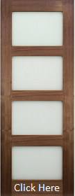 Walnut Coventry with Obscure Glass - Prefinished - DE