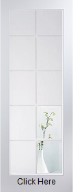 White Primed Atherton 10 Light Clear Etched Glass - Smooth - JW